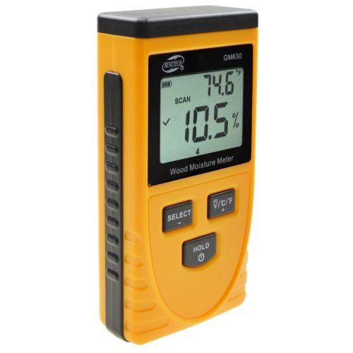 Индукционный измеритель влажности древесины GM630, бесконтактный влагомер