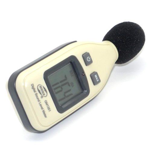 Цифровой портативный шумомер GM1351 от Benetech со шкалой до 130дБ