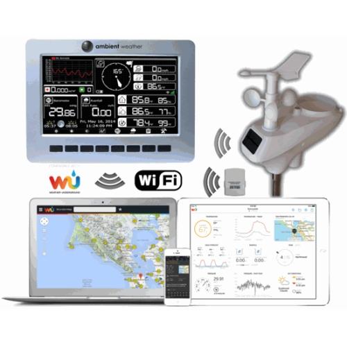 Метеостанция автономная, беспроводная, профессиональная, WiFi, AW003