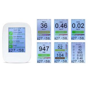 Газоанализатор качества воздуха D91, углекислый газ, формальдегид, TVOC, микрочастицы, влажность, температура