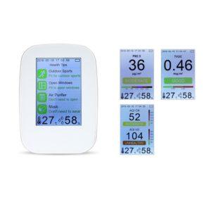 Газоанализатор качества воздуха D93, TVOC, дым, пыль, влажность, температура