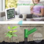 Монитор влажности почвы WH-02, беспроводной, с калибровкой